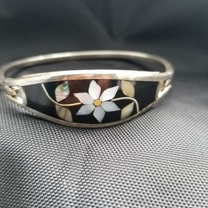 Vintage Sterling Silver Abalone & Mother of Pearl